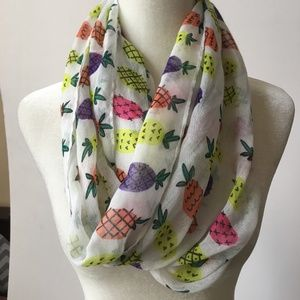 Lightweight Pineapple Multi-color Infinity Scarf!
